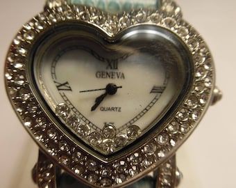 Heart Shaped Quartz Ladies Watch By Geneva