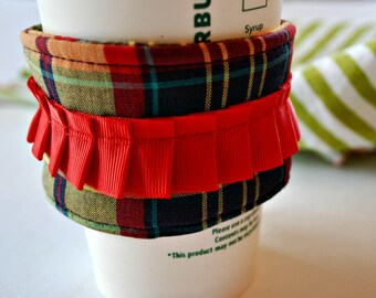 Outlander Inspired Coffee Cozy, Home and Living Cozy, Housewares Covers and Cozies, Reusable Cozy, Food and Drink Cozy, Spring Celebrations
