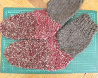 Knitted wollen socks