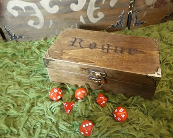 Dungeons and Dragons 'Rogue' Dice Chest/Dice Box - Tabletop Gaming, Pathfinder, Dnd 5e, RPG, Gift