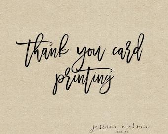 Thank You Card Printing