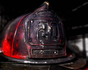 FIRE HELMET Firefighting Art Photograph INSTANT Download Digital Printable Firefighter Art Photograph