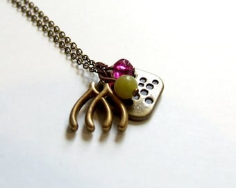 Double Luck Brass Necklace