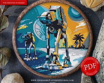 Star Wars Cross Stitch Pattern for Instant Download *P370 | AT-AT Walker Cross Stitch Pattern| Easy Cross Stitch| Counted Cross Stitch