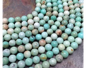 Amazonite Semi Precious 8mm Round Beads