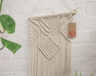 Macrame Wall Hanging - 3 foot length, Macrame Cord, Boho Chic Farmhouse Decor for Bedroom, Dorm Room, Living Room / High Quality & Hand Made