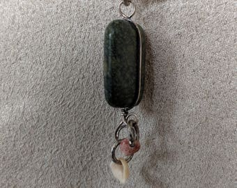 Green stone and shell