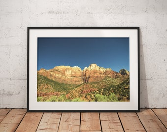 Utah Mountains, Sunrise, Nature, Wall Print, Wall Decor, Nature Landscape Photography