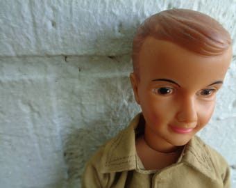 Ideal Ted 1962 12 1/2 inches Tammy's brother Ideal Ted Ideal Male Doll Vintage by Jeansvintagecloset
