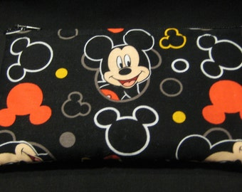 Disney's Mickey Mouse and Mickey Outline Pencil Case / Zipper Pouch, Coin Purse, or Wristlet #161