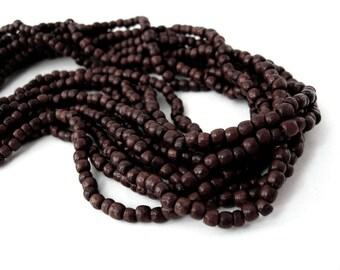 200 Perles de bois rondes marron 3mm