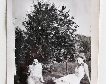 Original Vintage Photograph | Lounging Ladies