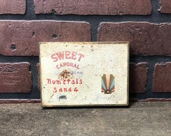 Vintage Sweet Caporal Cigarette tin-Antique tobacco tin