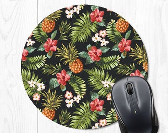 Pineapple Mouse pad - Tropical Mouse pad - Pineapple Mousepad - Tropical Mousepad - Grey Mousepad - Mouse Mat - Pineapple Mouse Mat