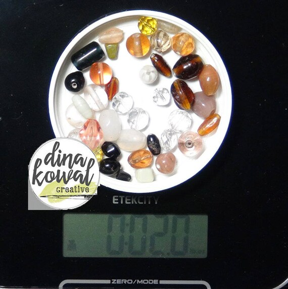 Destash - 2 oz. quality glass bead mix - neutrals