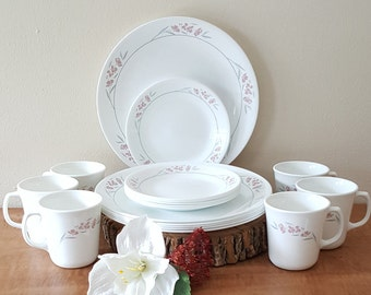 Corelle Silk Blossoms Corelle Dinnerware 18 Piece Set Made in the USA