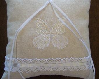 Butterfly Promises Ring Bearer Pillow