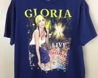 Vintage Gloria Estefen Live & Rewrapped Summer Tour T Shirt XL Size