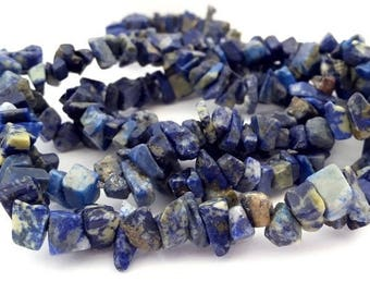 Lapis Lazuli: 1 wire 80 cm, 3-4 x 6 to 9mm (pg159) chips