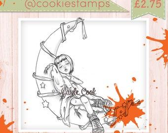 Cookie Stamps_001 Fantasty Mond Mädchen (Teddy Bo & Co)