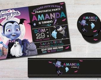 vampirina invitation birthday invitation  heavy cardstock or digital