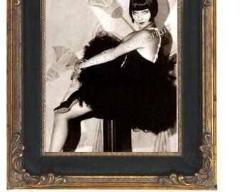 Art Deco Flapper Art Print 8 x 10 - Classic With Bob - 1920s