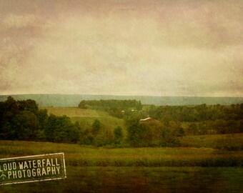 The Homestead, East Coast Rural Landscape, 11x17 Fine Art Home Decor Photograph