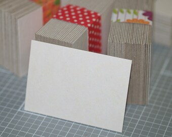 50 ATC / ACEO Blanks . Heavyweight White Chipboard Thick Art Cards Heavy Duty Art Supplies Mixed Media Assemblage Artist Supply