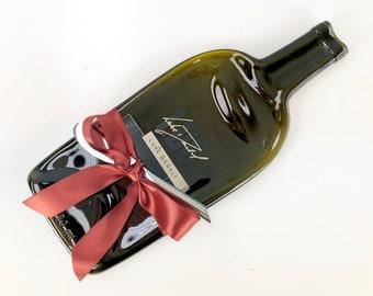Luke Donald Napa Valley Red Wine Melted Bottle Cheese Tray, Hostess Gift, LDC Vineyard Wedding Present