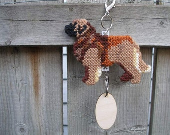 Leonberger home decor hang anywhere crate tag, accessory handmade original art by dog artist, Magnet Option