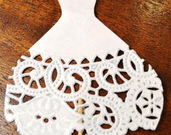 Food Picks Hors D'ouevres wedding dress, Set of 12 Food Decoration, tooth picks wedding bridal shower party white
