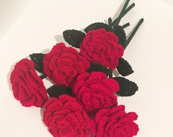 100 Wedding Favors Crochet Rose Beauty and the Beast Inspired The Forever Rose Long Stem Crochet Bridal Party Favors Baby Shower Favors 100
