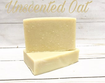 Oat Soap, Unscented soap, all natural soap, vegan soap, Father's Day gift, sensitive skin soap, excema soap, coconut oil free soap