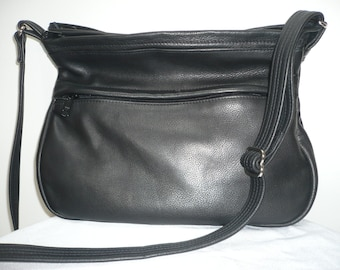 CONCEALED COMPARTMENT LEATHER Crossbody Bag Style #210