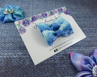 Bow Tie Hair Clip - Set of 2 - Snowflake