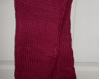 Cranberry knit scarf