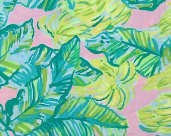 """local flavor organic cotton fabric square 10""""x10"""" ~ lilly spring 2018 ~ lilly pulitzer ~ pottery barn"""