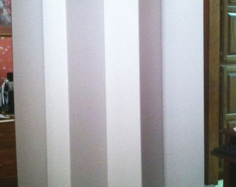 """Room Divider White Dorm Privacy Screen Partition 65"""" Tall 6 Panel"""