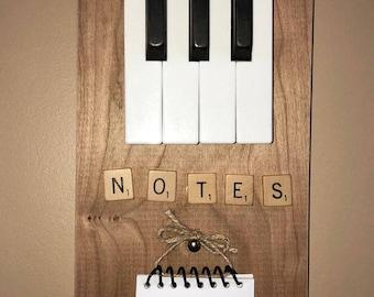 "Vintage piano keys ""notes"" holder"