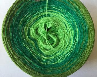 Greens Gradient Yarn Cake