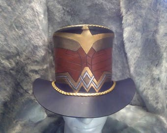 Wonder Woman Inspired Leather Top Hat