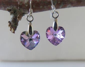 """""""Rubber_boy"""" heart earrings Swarovski Crystal"""