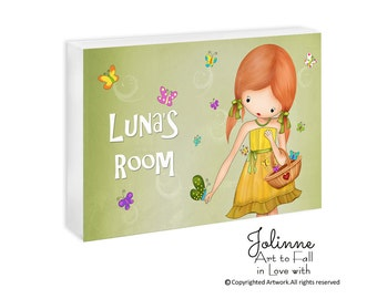 Personalized wall sign for girls,Custom name door signs,Baby name door sign,Toddler door sign,Door plaque decor for girls,baby nursery art