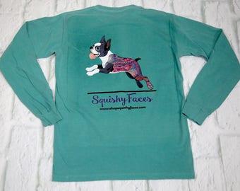 Boston Terrier Shirt - Boston Terrier Clothing - Boston Terrier Tee - Paisley Terrier - Paisley Print Shirt - Boston Terrier Lover Gift