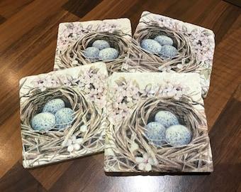 Bird Nest Coasters Handmade