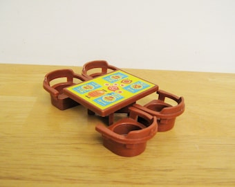 Vintage Fisher Price Brown Table and Chairs
