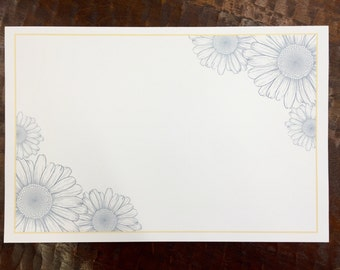 Blue & Yellow Floral Paper Placemats