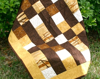 Quilt - Lap Size in Browns, Golds, and Cream