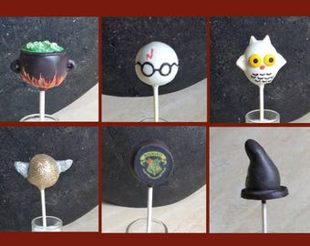 Assorted Designs per Order HARRY POTTER Cake Pops, Assorted Characters per order