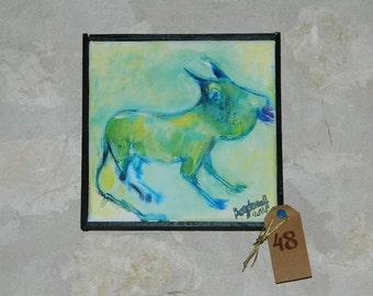 "acrylic painting on canvas ""mutant"". acrylic on canvas ""MUTANT"""